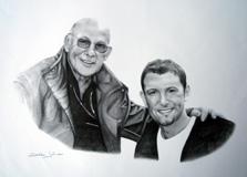 "Stirling Moss - Graphite 12"" x 14"""